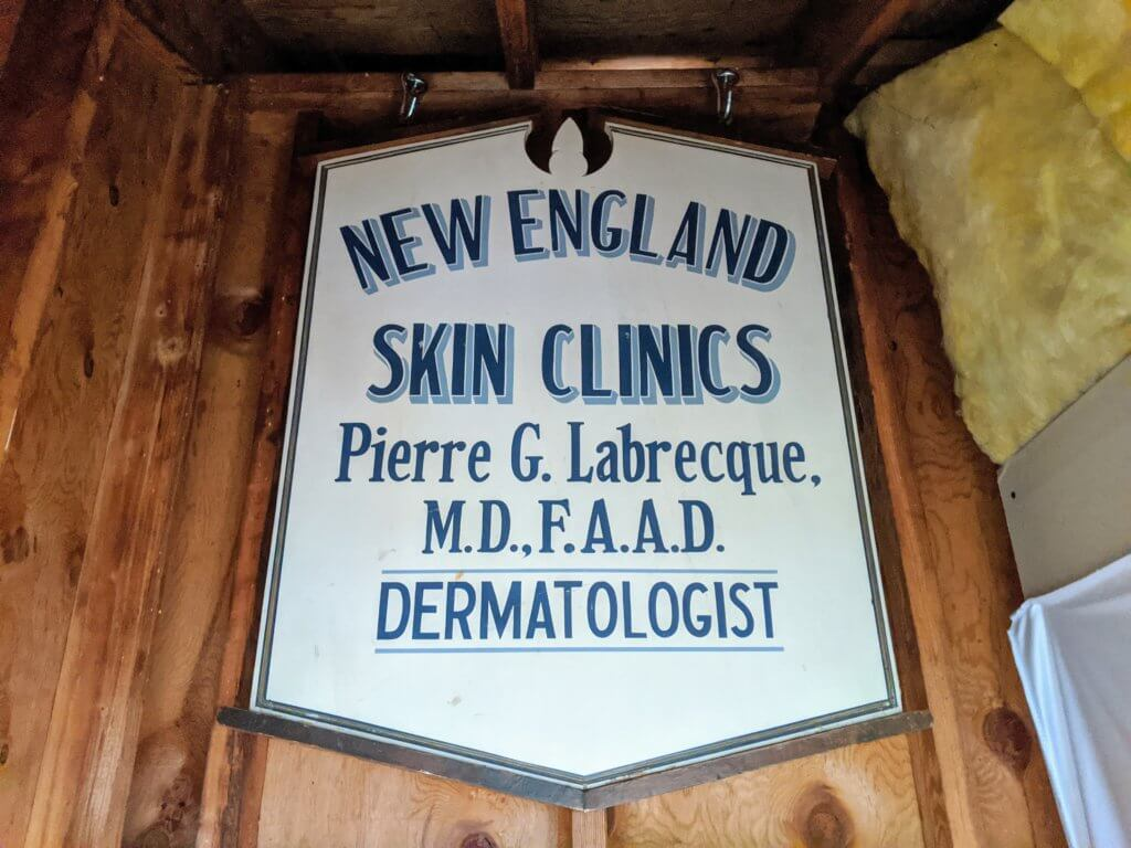 New England Skin clinics sign