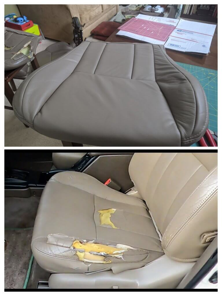 Toyota 4Runner ripped leather