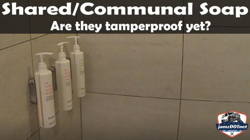 Marriott shared shampoo and bodywash